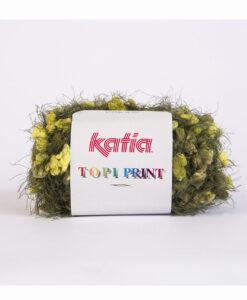 yarn-wool-topiprint-knit-nylon-dark-green-pistachio-green-autumn-winter-katia-59-g
